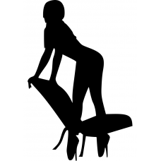 Adult muursticker: 10111 - Sexy vrouw leunend