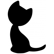 Katten muursticker: 10007 - Katje schuin kopje