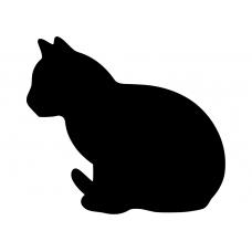 10008 - Zittende kat zijkant