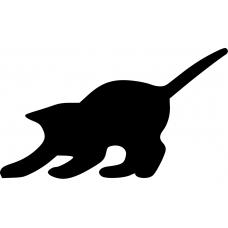 Katten muursticker: 10009 - Spelend katje zijkant