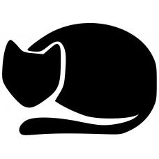 Katten muursticker: 10013 - Kat liggend