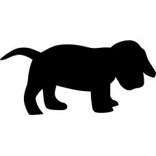Honden muursticker: 10026 - Hondje