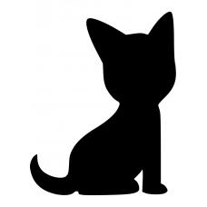 Honden muursticker: 10030 - Hondje van opzij