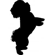 Kinderkamer muursticker: 10033 - Opspringend hondje