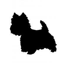 Honden muursticker: 10034 - Terrier hondje