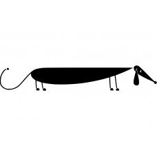 Honden muursticker: 10036 - Lange hond