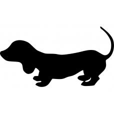 Dieren muursticker: 10043 - Tekkel hond