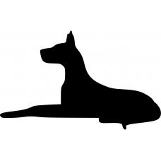 Dieren muursticker: 10044 - Deense dog hond