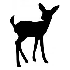 Boerderijdieren muursticker: 10051 - Omkijkend hert