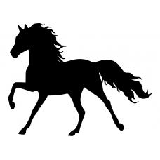 Dieren muursticker: 10084 - Paard galopperend