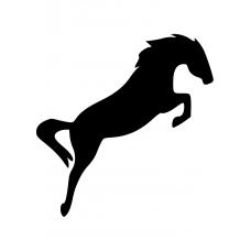 Dieren muursticker: 10087 - Springend paard