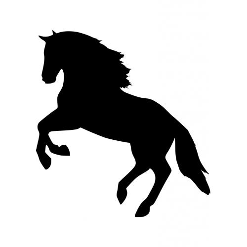 Paarden Kleurplaat Wit Muursticker 10093 Paard Springend Muursticker