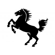 Paarden muursticker: 10098 - Steigerend stoer paard