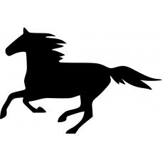 Paarden muursticker: 10106 - Paard in galop links