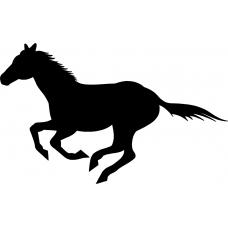 Paarden muursticker: 10109 - Paard rengalop links