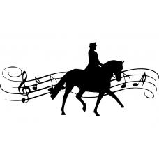 Paardrijden muursticker: 10164 - Dressuur Kür op muziek