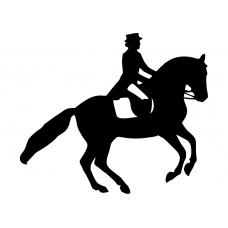 Paardrijden muursticker: 10168 - Pirouette halfopen