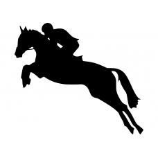 Dieren muursticker: 10173 - Springpaard ruime sprong