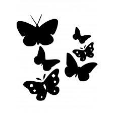 Dieren muursticker: 10236 - Vlinderset