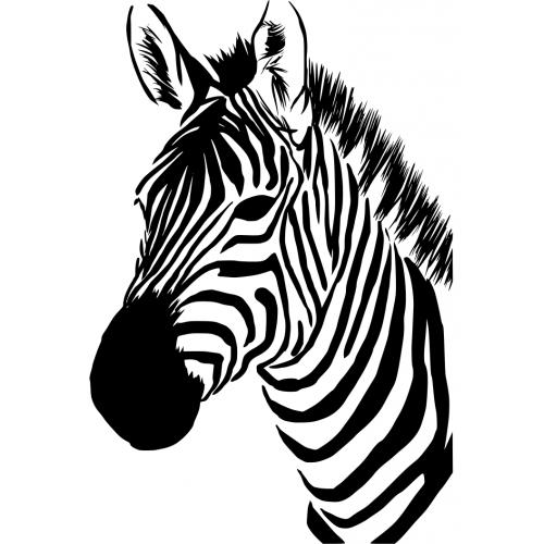 muursticker 10260 zebra hoofd muursticker