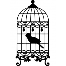 10261 - Vogel in kooi