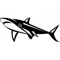 Dieren muursticker: 10262 - Haai