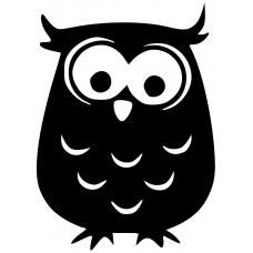 Dieren muursticker: 10264 - Uil met veren