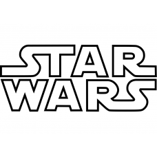 Fantasie muursticker: 10280 - Star Wars logo open