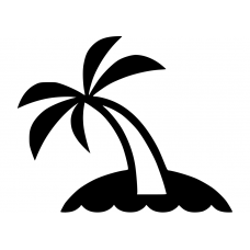 Natuur muursticker: 10064 - Palmboom