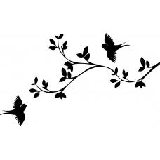 Vogels muursticker: 10072 - Twee sierlijke vogels