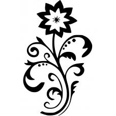 Bloemen en planten muursticker: 10227 - Sierlijke bloem enkelvoudig
