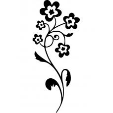 Bloemen en planten muursticker: 10229 - Sierlijke bloemtros