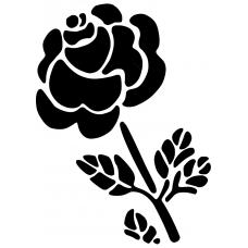 Bloemen en planten muursticker: 10230 - Schuine roos