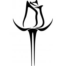 Bloemen en planten muursticker: 10232 - Statige roos