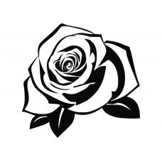 Bloemen en planten muursticker: 10259 - Roos bloemknop