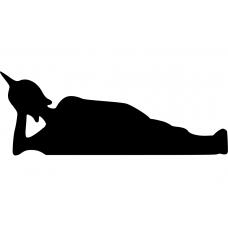 Spiritueel muursticker: 10021 - Boeddha liggend