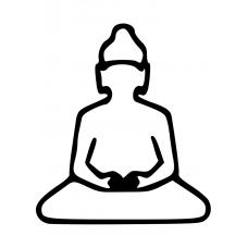 Spiritueel muursticker: 10025 - Boeddha open