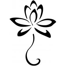 Spiritueel muursticker: 10141 - Lotusbloem op steel