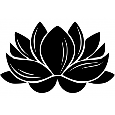 Spiritueel muursticker: 10144 - Lotusbloem dicht