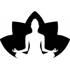 Spiritueel muursticker: 10148 - Lotusbloem meditatie