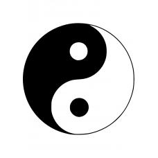 Spiritueel muursticker: 10149 - Yin en yang symbool