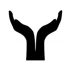Spiritueel muursticker: 10209 - Open handen
