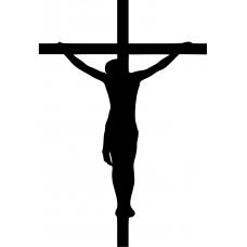 Spiritueel muursticker: 10211 - Jezus aan het kruis