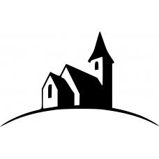 Spiritueel muursticker: 10212 - Kerk zijkant