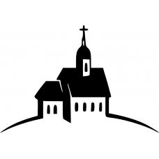 Spiritueel muursticker: 10213 - Kerk voorkant