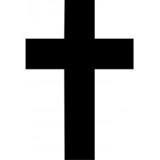 Spiritueel muursticker: 10214 - Kruis
