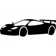 Auto muursticker: 10238 - Supercar raceauto