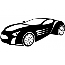 Auto muursticker: 10240 - Supercar sportauto striping