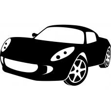 Auto muursticker: 10241 - Supercar sportwagen schuin