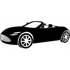 Auto muursticker: 10242 - Supercar sportwagen cabrio